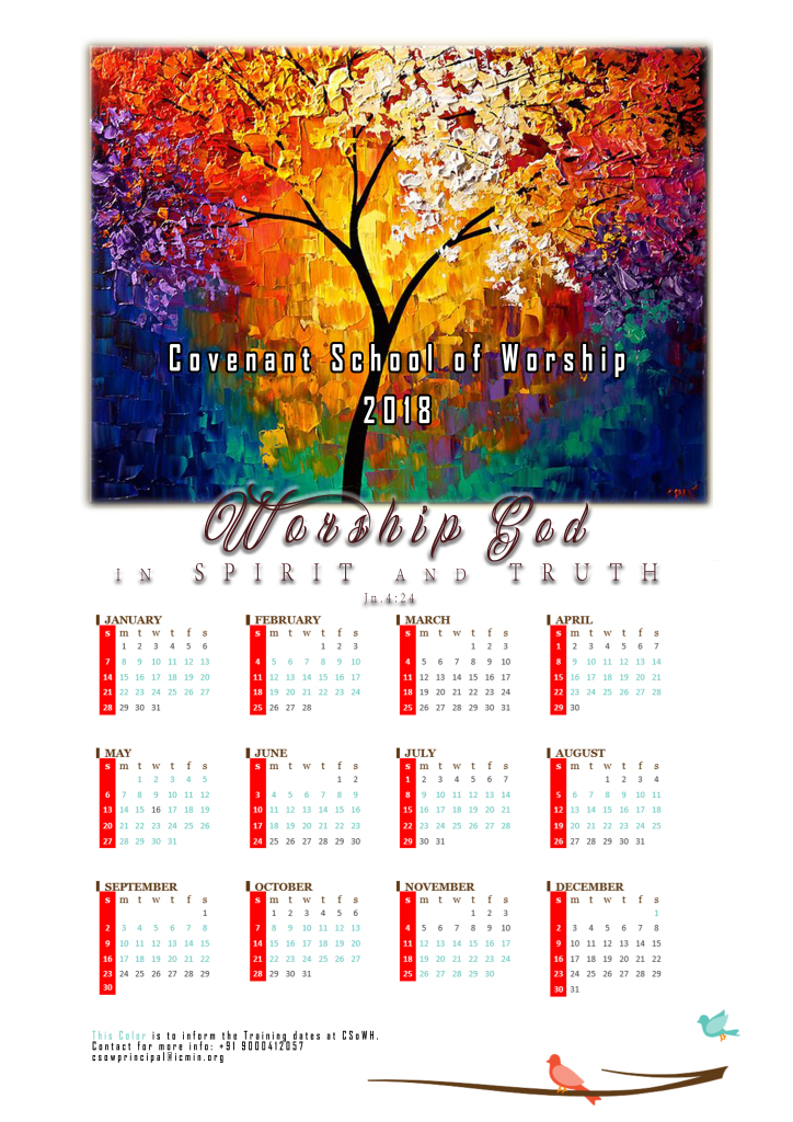 CSoWH Calendar 2018